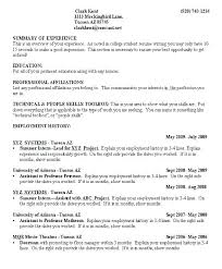 College Student Resume Samples – Resume Tutorial