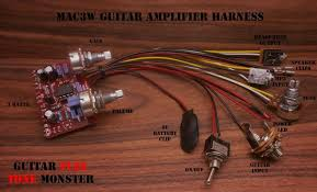mac3w guitar amplifier harness the mac3w features an easy to pcb perforated circuit board and all components and parts to build your own 3 watt guitar amplifier
