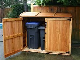 relatively outdoor wooden garbage can storage bin outdoor designs bb28