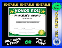Principal Award Certificate Principals Award Worksheets Teaching Resources Tpt
