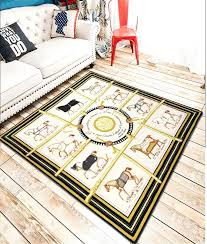 famous luxury house bedroom carpet thin rugs sofa horse carpet floor room parlor carpet ground throw