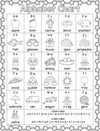 Alphabet Chart Black And White Free Colorful Alphabet Chart Black White Version Included Too