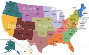 map of united states of america with state names stock photo Map Of The United States With Names map of united states of america with state names royalty free stock photo map of the united states with names printable