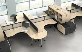 Workstation Desk / Wooden / Contemporary / Commercial Fusion Regarding  Elegant Household Work Station Desk Ideas