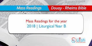 Daily Mass Readings 2018 Catholic Gallery