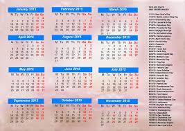 Holidays 2015 Calendar 1024x723 2015 Calendar With Holidays