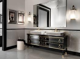 art deco bathroom. Art Deco Drama In The Bathroom | Kitchen Bath Trends