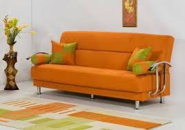 Brenda Orange Sleeper Sofa