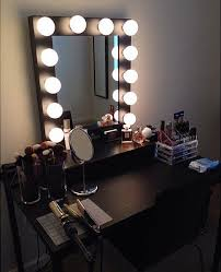 black bedroom vanities. Elegant DIY Vanity Mirror With Lights For Bathroom And Makeup Station Throughout Black Set Idea Bedroom Vanities D