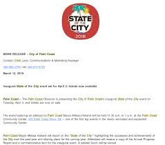 palm coast mayor s state of the city sch 40 a plate profits to