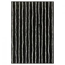 rugs ikea smooth rug with narrow strips motive in black and white color