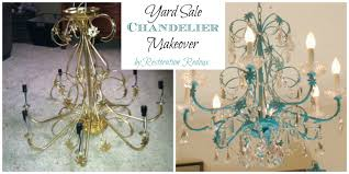 turquoise chandelier lighting. Yards Ale Chandelier Makeover Turquoise Lighting