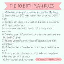 What Should A Birth Plan Look Like All About Birth Plans Mommytobeprep Com
