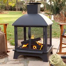 mesmerizing clay chiminea with red ember alto steel chiminea