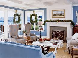 Delightful Christmas Decorating In A Coastal Living Room. [+] Pictures