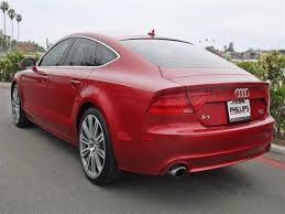 audi a7 2014 red. 2014 audi a7 gasoline 4 door red