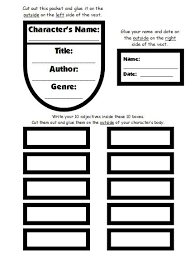 Book Report Template Cool Character Body Book Report Project Templates Worksheets Rubric