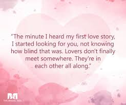 First Love Quotes Simple 48 First Love Quotes For The Romantic In You