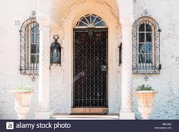 Luxuriöse Moderne Eingang Architektur Von Haus Villa An Einem