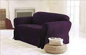 Slipcover Price Chart Chezmoi Collection Soft Micro Suede Solid Purple Couch Sofa