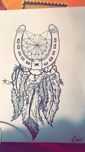 Dream Catcher Tattoo Stencils Friend Tattoos Horse shoe dream catcher Tattoo idea for a 89