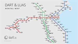 the daftie dart  luas rental map by stop  daft insights