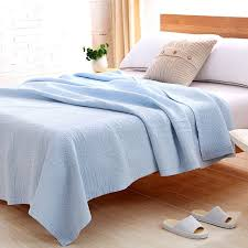 brand high quality home quilt 100 cotton spring autumn japan style water wash plane bedding