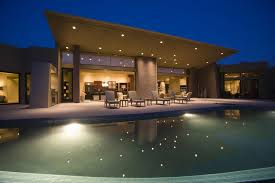 modern house lighting ideas. luxurious and modern house with swimming pool at night lighting ideas i