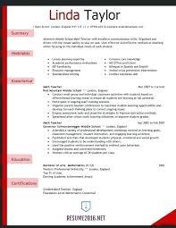Elementary Teacher Resume Template Enchanting Free Teacher Resume Samples Combined With Teacher Resume Sample For