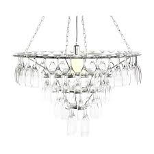 4 tier champagne flute glass chandelier silver fast free delivery