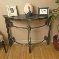 half circle accent table fascinating custom hand forged iron round console by arc semi i fancy half moon accent table