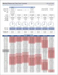 World Meeting Planner And Time Zone Converter