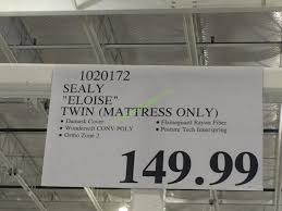 costco mattress sale 2016. Sealy Eloise Twin Mattress Only CostcoChaser Within Costco Mattresses In Store Plans 0 Sale 2016