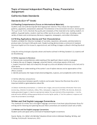 grade independent reading essay presentation assignment intructions 4