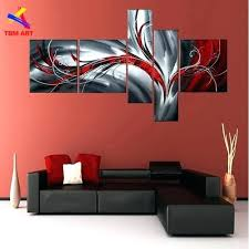 black and white wall art with red grey and red color pic abstract canvas painting large  on canvas wall art black white with red umbrella 215 x 325 with black and white wall art with red hand painted high quality abstract
