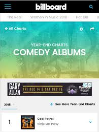 Comedy Album Charts Cool Patrol Is Billboards 1 Comedy Album Of 2018