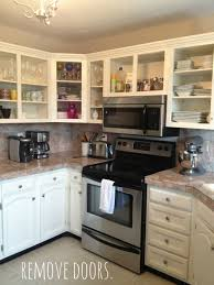 livelovediy paint kitchen cabinets easy steps plain white cupboard doors step remove hardware gloss cupboards diy