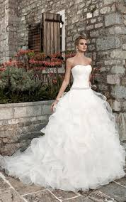 cheap organza ball gown bridal dresses organza ruffled wedding