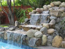 rock waterfall fountains delightful decoration water throughout fountain plan 16