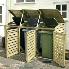 building a garbage can enclosure garbage bin shed trash can enclosure plans storage outdoor refuse storage