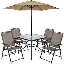 table 4 chairs umbrella