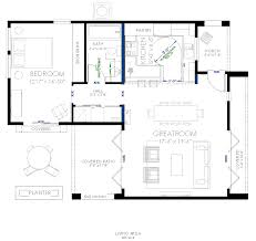 contemporary small house plan with universal design features for universal design home plans