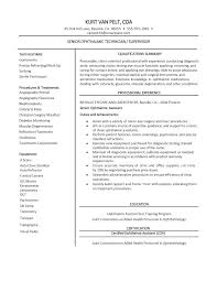 ophthalmic assistant resume printable large size 16