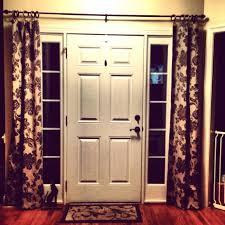 Front Doors : Front Door Sidelight Curtain Rods Front Door Ideas ...