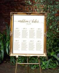 Wedding Seating Chart Script Printable Any Color