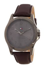 image of tommy hilfiger men s the essentials leather strap watch