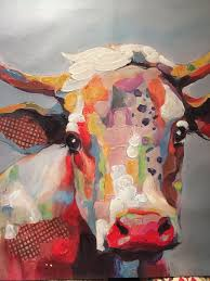 b cow canvas art print by kay smith
