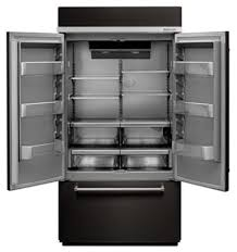 kitchenaid black refrigerator ft 42 width built in stainless french door refrigerator with kitchenaid black refrigerators