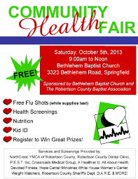 007 Template Ideas Health Fair Flyer Word Free Best Images