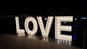 Big Letters With Lights Hire Big Letter Lights In Toowoomba Wedding Love Letters